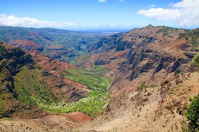 Pu'u Hinahina Lookout.  Waimea Canyon State Park, Kaua'i, Hawaii, USA.