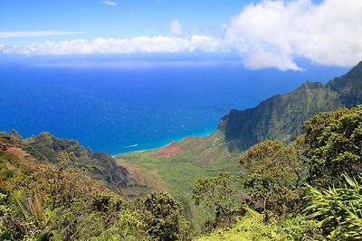 Kaialau Valley @ Nā Pali Coast State Park. Kōkeʻe State Park,  Kaua'i, Hawaii, USA.