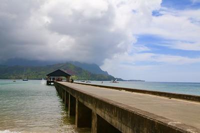 The Pier @ Hanalei Beach. Kaua'i, Hawaii, USA.