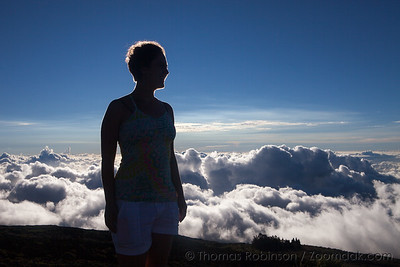 Woman Above the Clouds