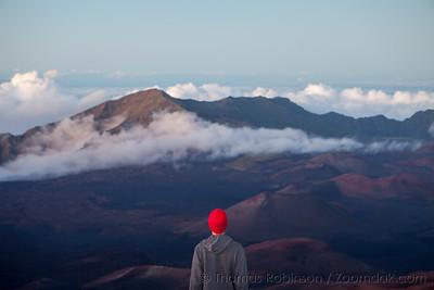 Red Beanie Haleakala
