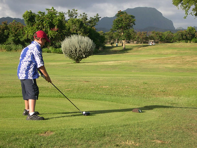 JJ at the Kiahuna Golf Course
