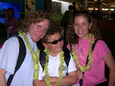 Lei greeting at the Maui airport