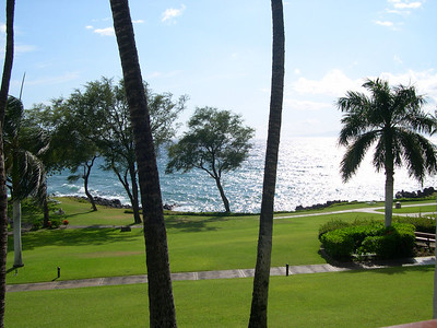 The view from our lanai at the Marriott Wailea Beach Resort