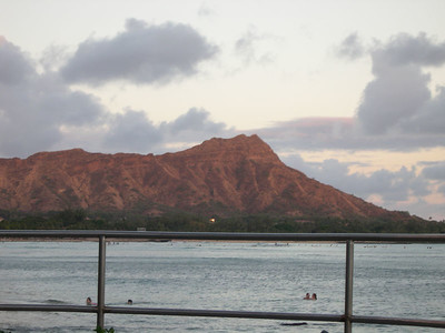 Diamond Head brooding in the twilight