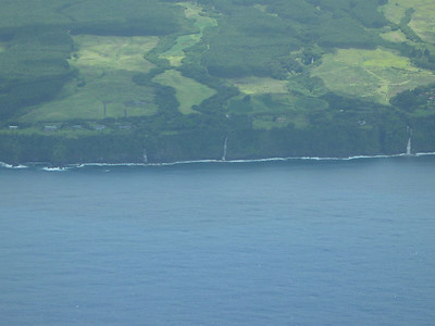 Flying into the Big Island along the Hamakua Coastline