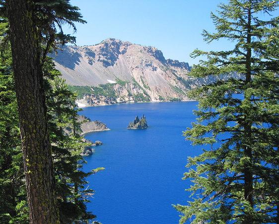 'Phantom Ship', Crater lake National Park, Oregon.