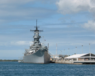 USS Missouri at Pearl Harbour