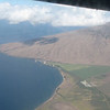 "View of Ma'alaea Bay on Maui island as we fly to Hawaii island, aka ""Big Island.""  We will be back on Maui after the wedding."
