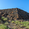 Most structures were lava stone walls or palm-thatched A-frames.