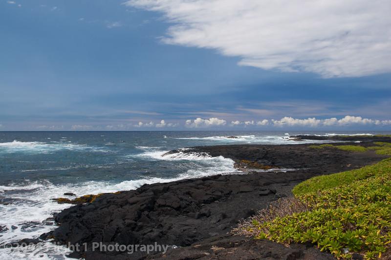 Lava and the sea