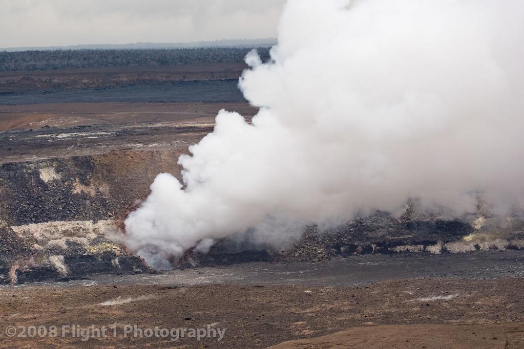 Kilauea volcano summit