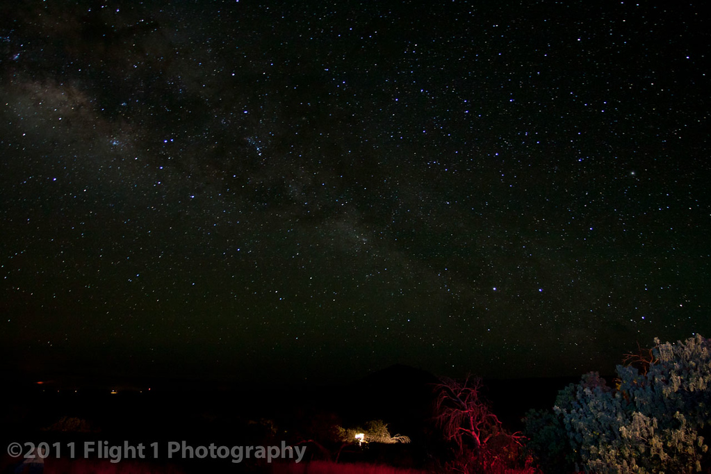 A star-filled sky from the slopes of Mauna Kea