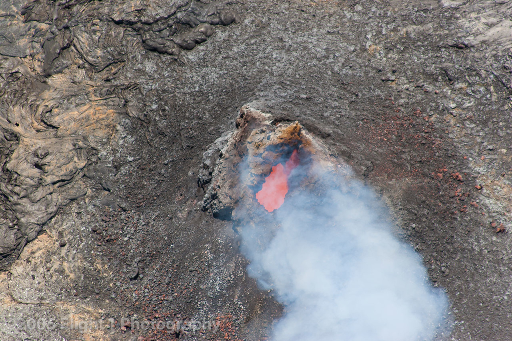 Pu'u 'O'o crater, the most active vent on the Kilauea volcano