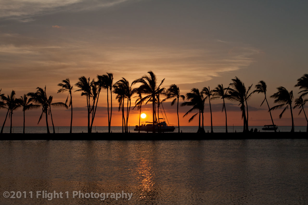 An end to another great day on the Big Island at Anaeho'omalu  Bay (A-Bay)