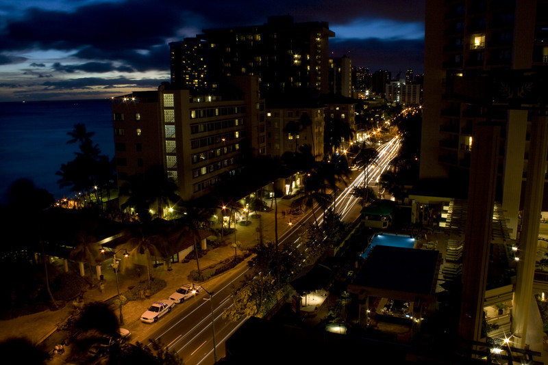Kalakaua Ave, Honolulu, HI. <br /> Image Copyright 2011 by DJB.  All Rights Reserved.