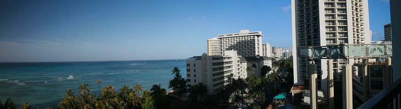 Kalakaua Ave (from Hyatt Regency Waikiki), Honolulu, HI. Image Copyright 2011 by DJB.  All Rights Reserved.
