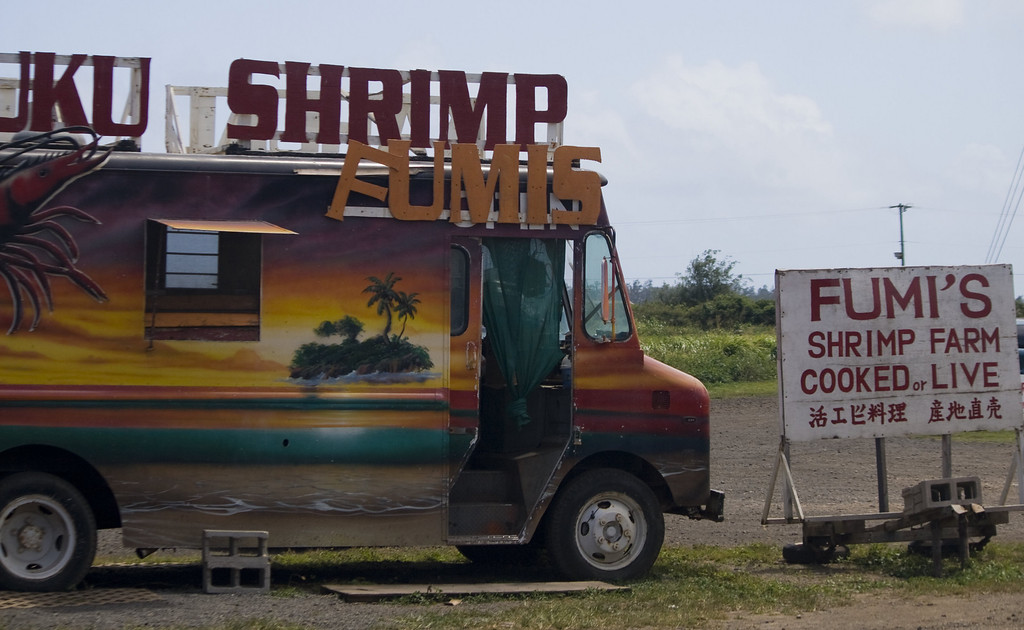 Fumi's Shrimp, Kahuku, HI.<br /> Image Copyright 2011 by DJB.  All Rights Reserved.