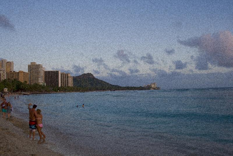 Waikiki Beach, Honolulu, HI. <br /> Image Copyright 2011 by DJB.  All Rights Reserved.