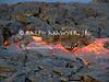 Live lava breakthrough from Kilauea Volcano in Hawaii Volcanoes National Park.