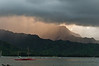 Ever-present showers on the Na Pali, Hanalei Bay