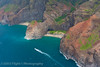The Na Pali Coast from the air