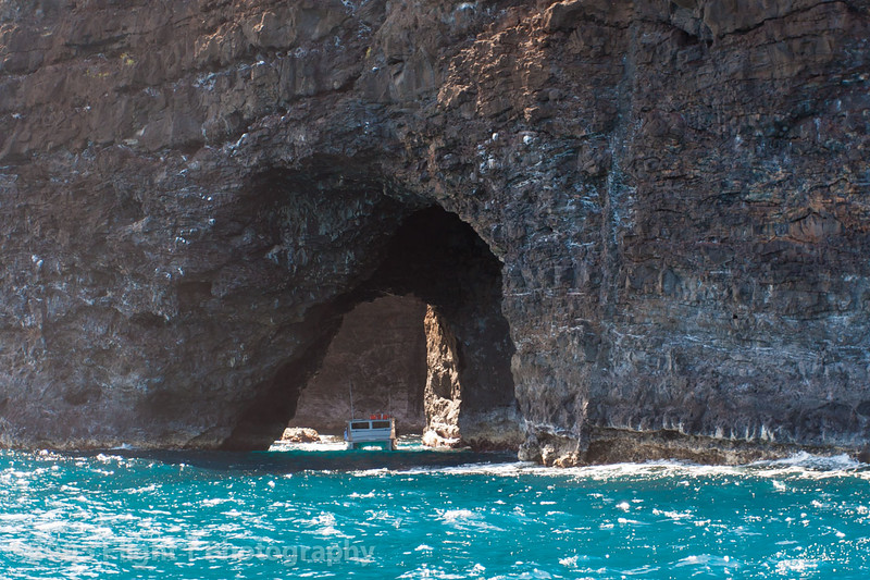 A sea cave along the NaPali Coast