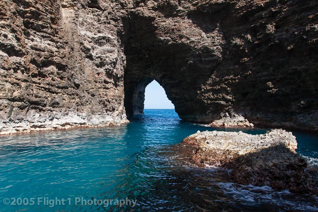 A sea cave along the NaPali Coast