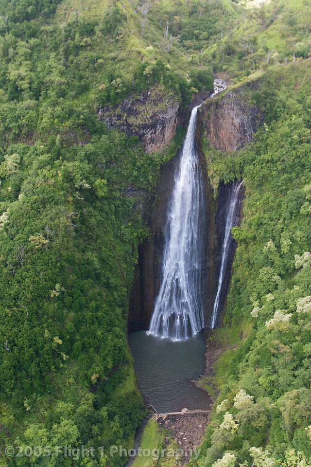 This waterfall was used in the opening scenes of the movie Jurassic Park