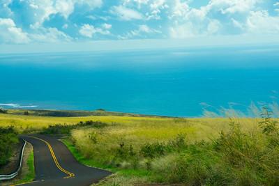 Road down from Waimea Canyon
