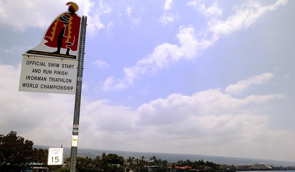 Ironman starting point in Kona