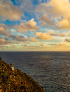 The Makapu'u Lighthouse in morning light
