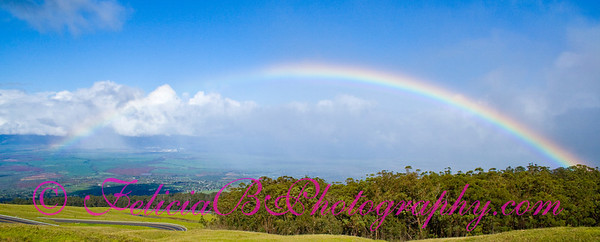 Rainbow from Haleakala pano 01