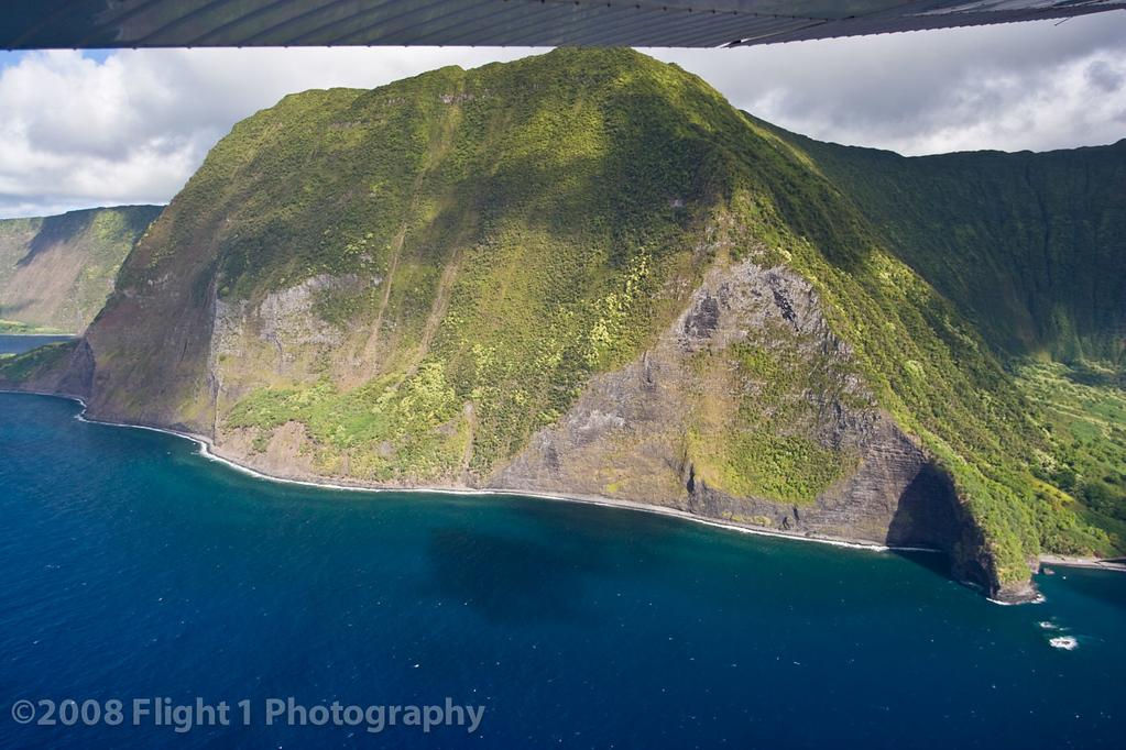 Sea cliffs on the north shore of Molokai