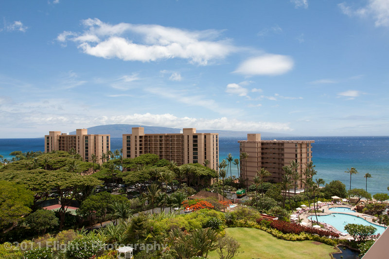 The view from a 2 bedroom suite at the Kaanapali Beach Club