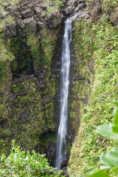 A waterfall along the Hana Highway