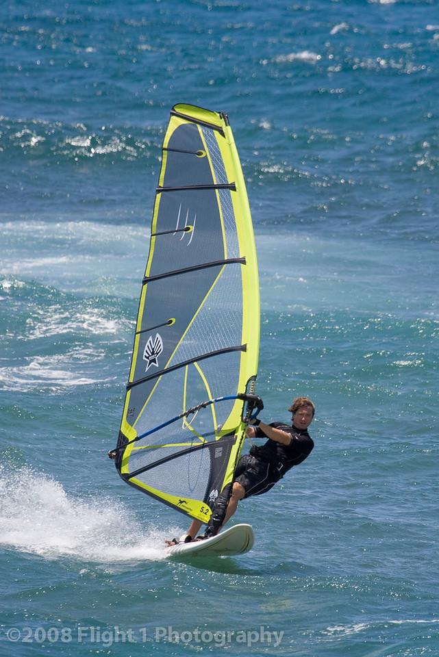 Windsurfer at Ho'okipa Beach