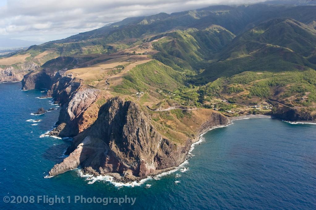 Kahakuloa Head from the air