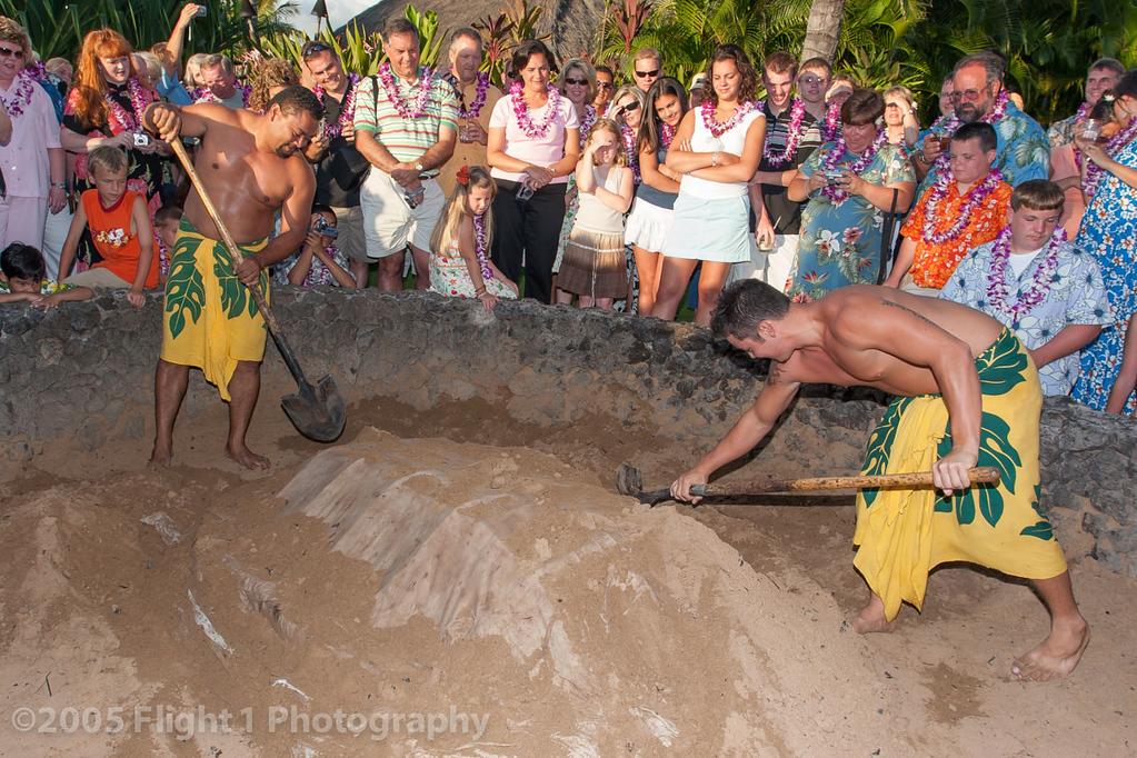 Imu pit at the Old Lahaina Luau