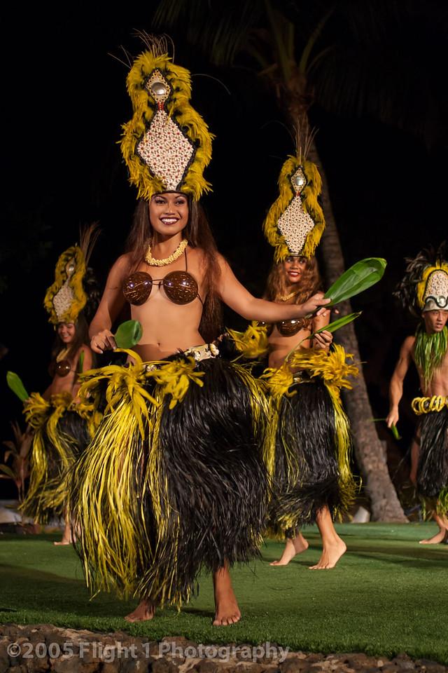 Tahitian dancers at the Old Lahaina Luau