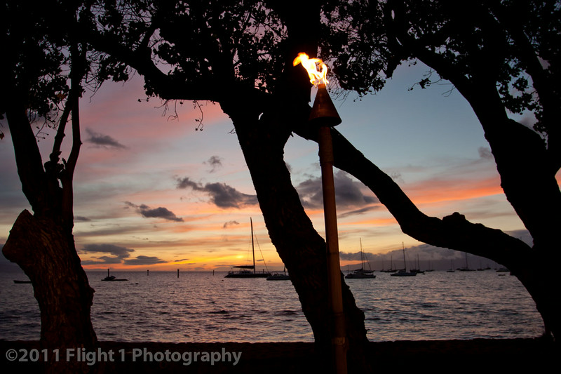 Sunset at the Old Lahaina Luau