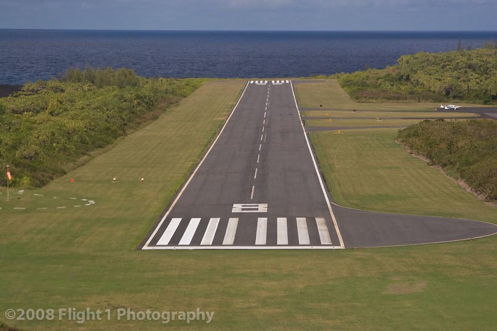 Short final for Hana Airport