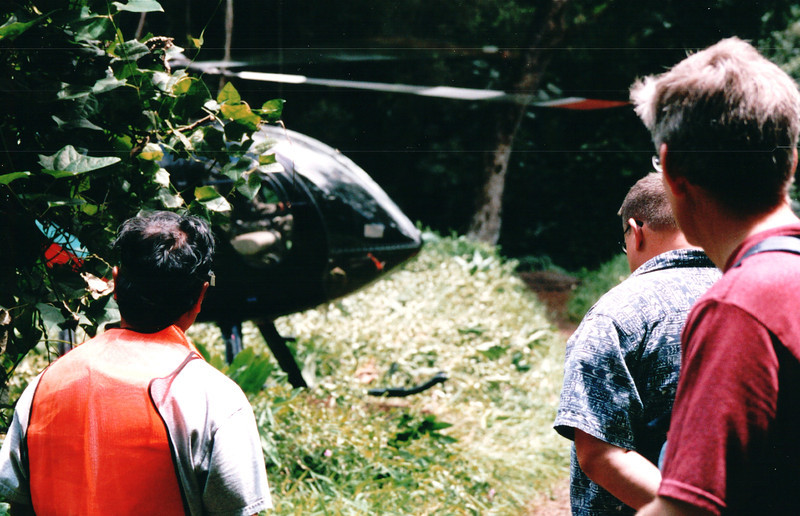 Randal Watching Helicopter Landing - Honolulu, O'ahu, Hawaii - April 23-29, 2003<br /> Such excitement for men!