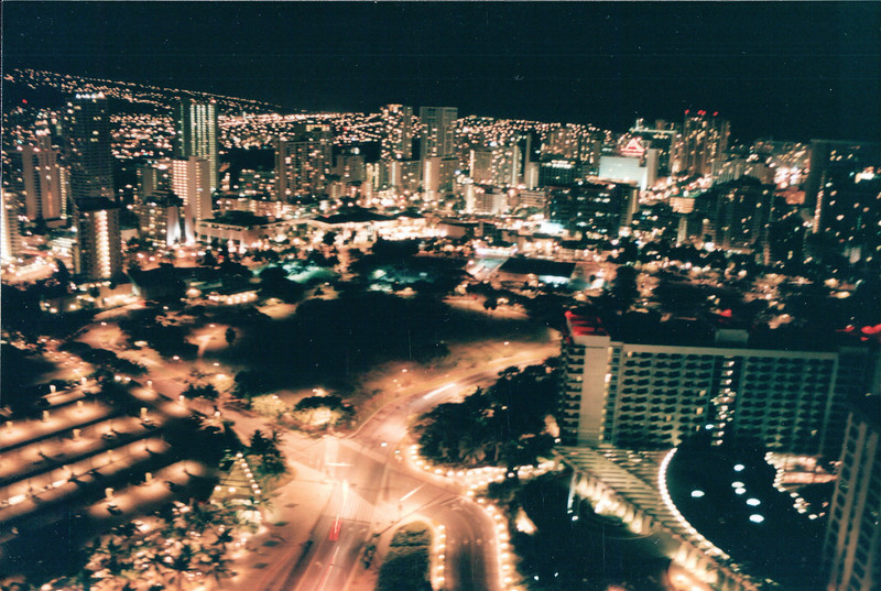 Our Arrival at Night - Honolulu, O'ahu, Hawaii - April 23-29, 2003