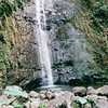 Manoa Falls - Honolulu, O'ahu, Hawaii - April 23-29, 2003<br /> The falls tumble down a near vertical cliff for approximately 150 feet into a small pool.