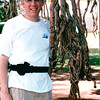 Randal by Roots of Banyan Tree in Waikiki Beach Park - Honolulu, O'ahu, Hawaii - April 23-29, 2003