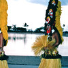 Hula Dancers - Nature's Sunshine's Closing Luau - Hilton Hawaiian Village - Honolulu, O'ahu, Hawaii - April 23-29, 2003<br /> Few things are as symbolic of Hawaii as the long-held traditions of the hula.  In the last 40 years, hula has come to embody the aloha spirit and its rich tradition has been treasured and enjoyed.