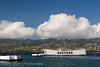 The USS Arizona Memorial along Battleship Row