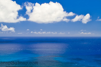Blue sky and Ocean over Hawaii