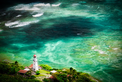 The Diamond Head Lighthouse in Honolulu, Hawaii